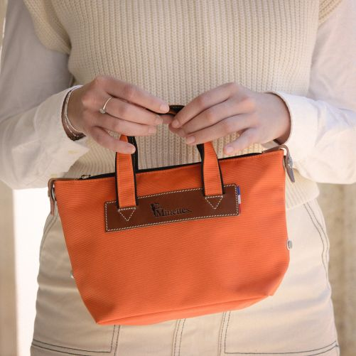 Sac à main bandoulière 28 cm  Orange/Tabac